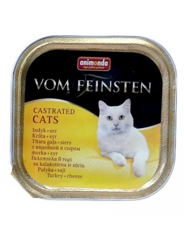 Animonda vom Feinsten Castrated Cats z Indykiem i Serem tacka 100g
