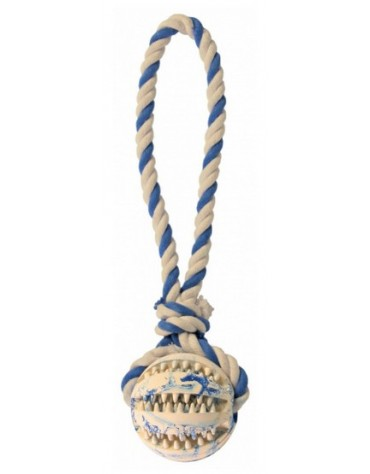 Trixie Piłka Dentafun ze sznurem 7cm/24cm [TX-3299]