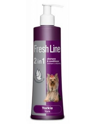 Fresh Line 2w1 York - Szampon z odżywką dla psów rasy Yorkshire Terrier 220ml