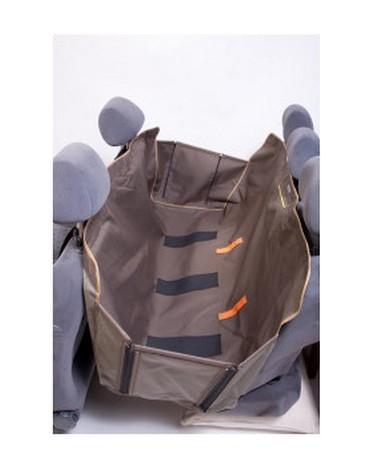 Kardiff Kardimata Anti Slip z bokami 137x167 oliwkowa - mata samochodowa na tylne fotele