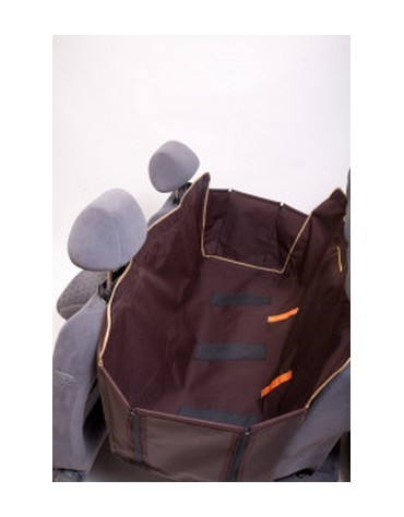 Kardiff Kardimata Anti Slip z bokami 137x167 brązowa - mata samochodowa na tylne fotele