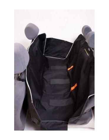 Kardiff Kardimata Anti Slip z zamkiem i bokami 123x154 czarna - mata samochodowa na tylne fotele