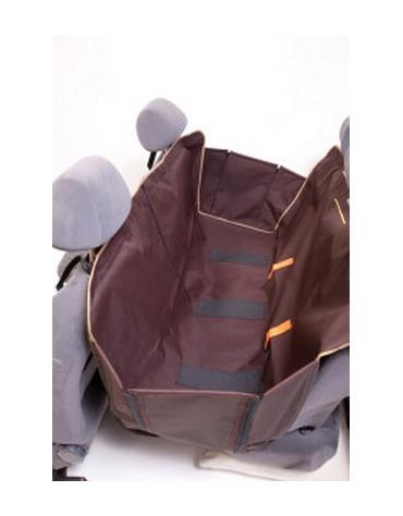 Kardiff Kardimata Anti Slip z zamkiem i bokami 123x154 brązowa - mata samochodowa na tylne fotele