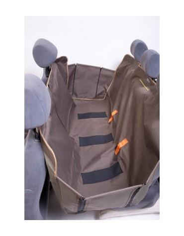 Kardiff Kardimata Anti Slip z zamkiem i bokami 137x167 oliwkowa - mata samochodowa na tylne fotele