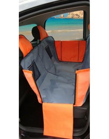Kardiff Kardimata Active samochodowa na tylne fotele - mata z zamkiem i bokami duża 137x167cm czarno-czerwona