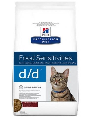 Hill's Prescription Diet d/d Feline z Dziczyzną i Groszkiem 1,5kg