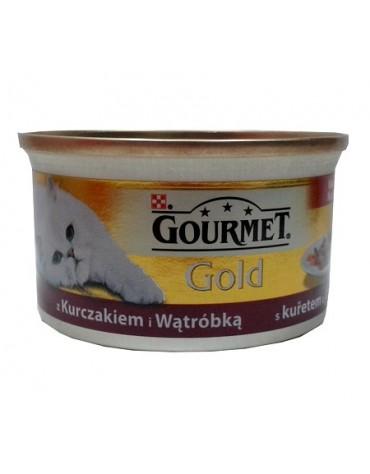Gourmet Gold Kurczak i wątróbka w sosie 85g