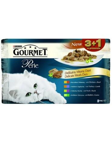 Gourmet Perle Duet Mięsny saszetki 3+1 gratis 4x85g