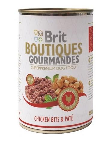 Brit Boutiques Gourmandes Chicken Bits & Paté - Kurczak z pasztetem 400g