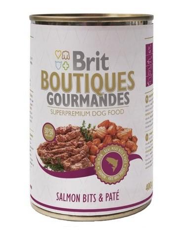 Brit Boutiques Gourmandes Salmon Bits & Paté - Łosoś z pasztetem 400g