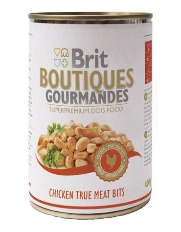Brit Boutiques Gourmandes Chicken True Meat Bits - Kurczak kawałki mięsne 400g