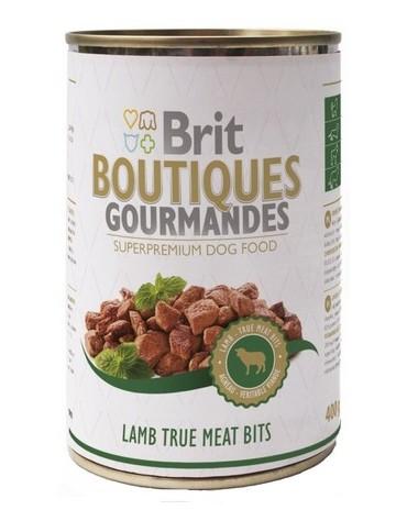 Brit Boutiques Gourmandes Lamb True Meat Bits - Jagnięcina kawałki mięsne 400g