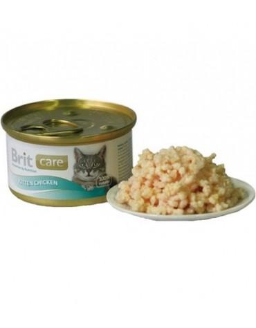 Brit Care Cat Kitten Chicken - Pierś Kurczaka dla kociąt puszka 80g