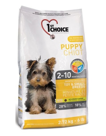 1st Choice Puppy Dog Growth Toy & Small Breeds 350g