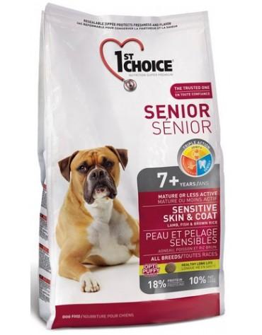 1st Choice Senior Dog Mature or Less Active All Breeds Sensitive Skin & Coat Jagnięcina, ryby i brązowy ryż 12kg