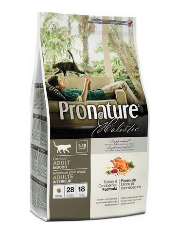 Pronature Holistic Adult Cat Indoor Indyk i żurawina 340g
