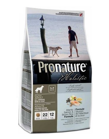 Pronature Holistic Adult Dog All Breeds Skin & Coat - Atlantycki łosoś i ryż brązowy 2,72 kg