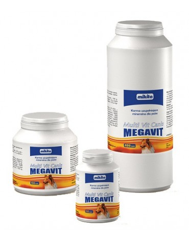 Mikita Megavit Multi-Vit Canis - witaminy, minerały i aminokwasy dla psów 400 tabl.